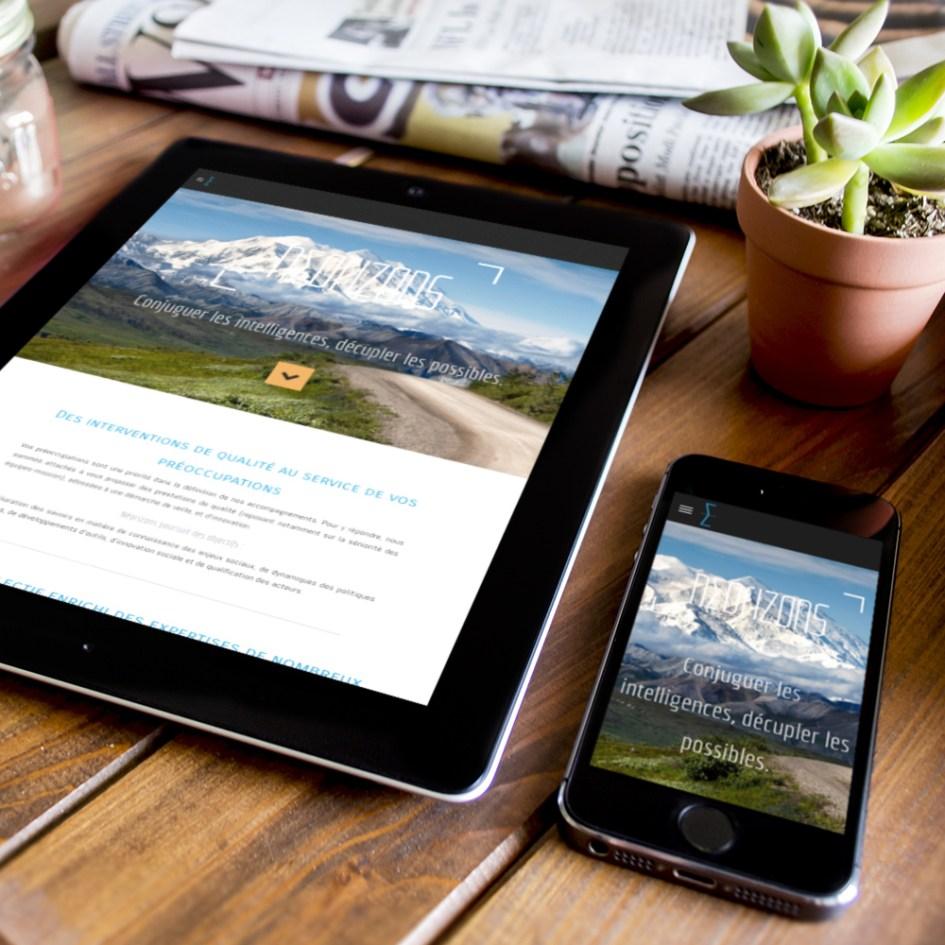 Webdesign & intégration du site Neorizons