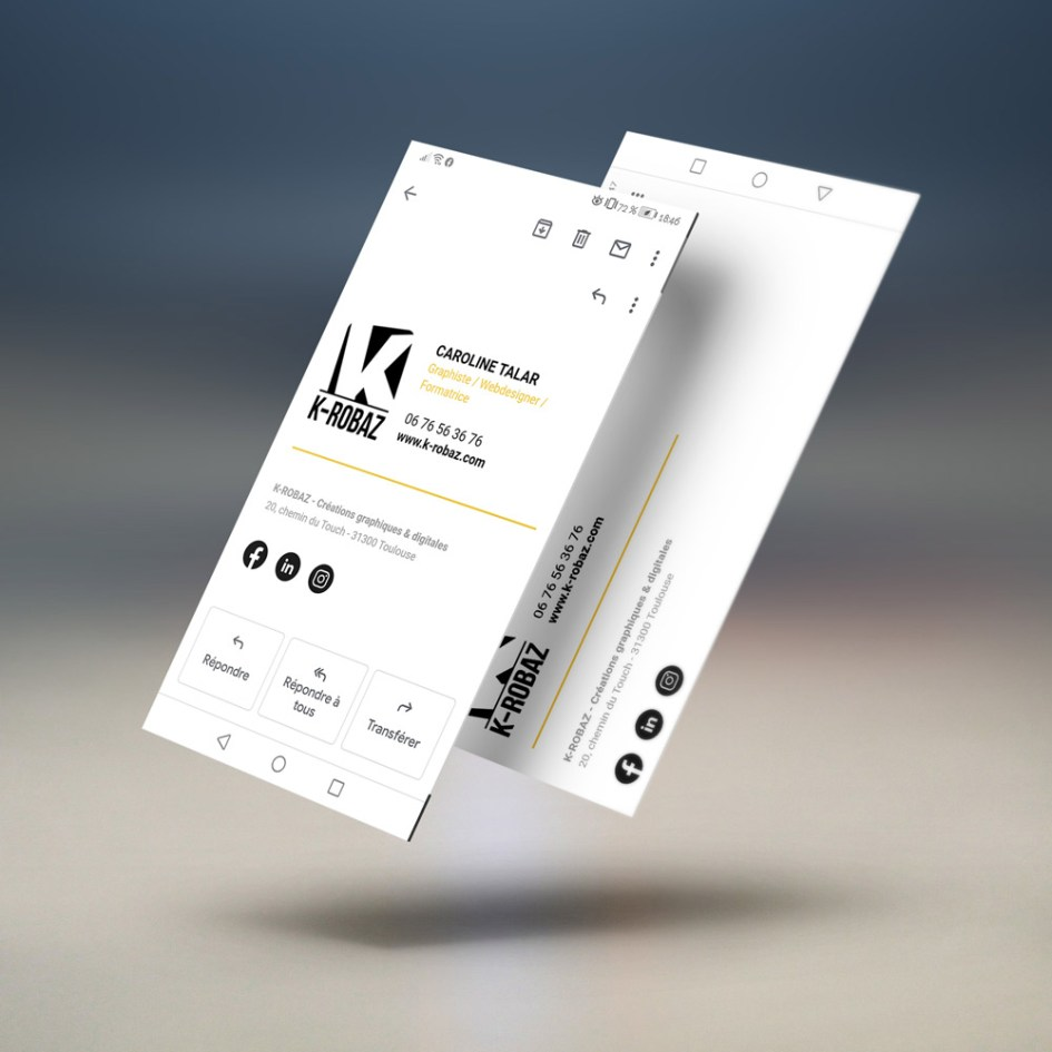 K-ROBAZ Exemple de signature mail