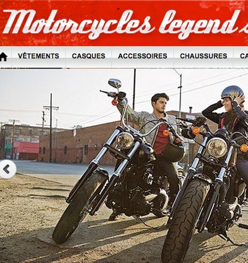 Boutique en ligne d'accessoires pour moto