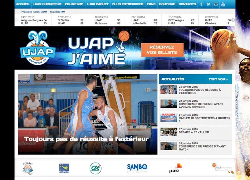 création du site internet de l'Ujap
