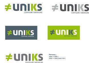 Logo coiffeur UNIKS