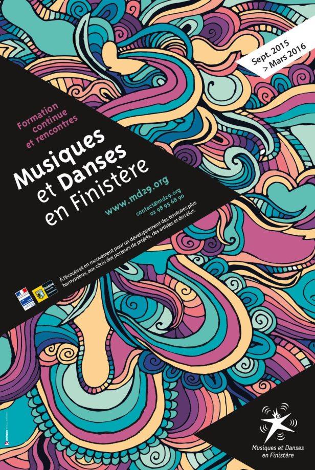 affiches musiques et danses en Finistère