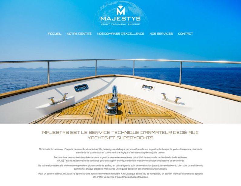 site internet responsive Majestys