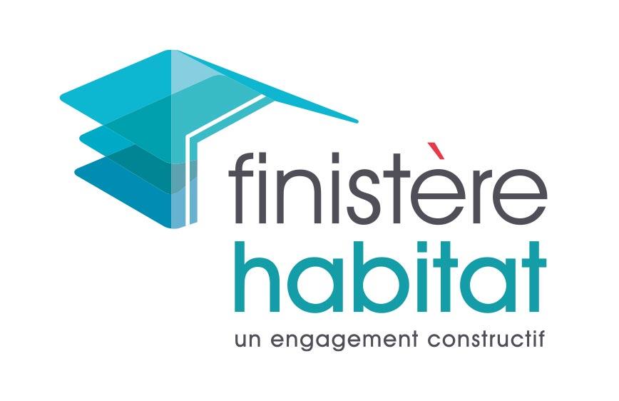 identité graphique de Finistère Habitat
