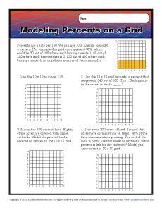 Modeling Percents On A Grid