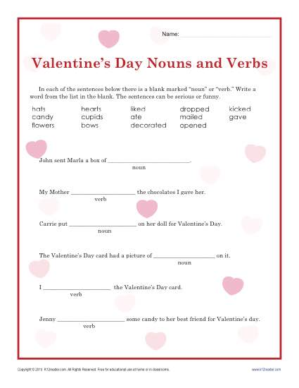 Valentines Word Search To Print