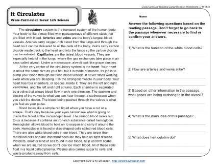 It Circulates Reading Worksheets Spelling Grammar