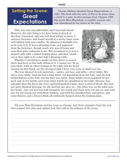 Worksheets Comprehension Grade 10th Reading