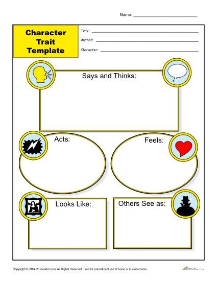 Character Trait Template