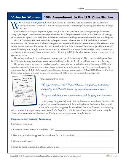Women S History Month Worksheet