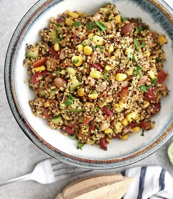 Quick easy mexican quinoa mixed feature