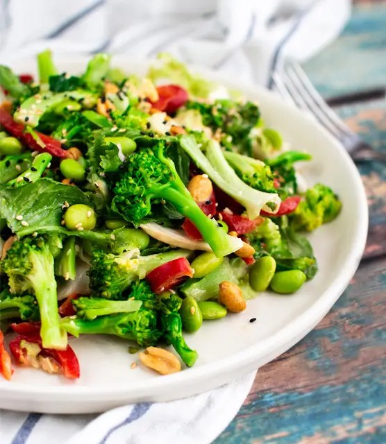 K33 Kitchen Broccoli and edamame salad