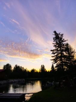 A beautiful sunset at 1:00AM