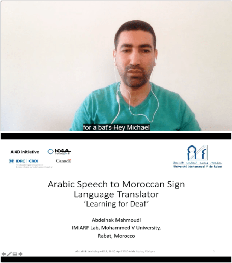 Abdelhak Mahmoudi - Arabic Speech-to-MSL Translator: 'Learning for Deaf'
