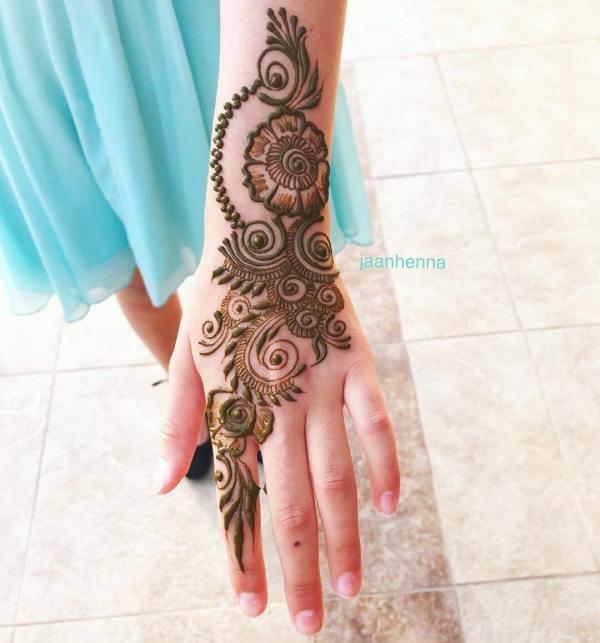 Flower motif Arabic Mehndi for Back Hand Latest Simple Arabic Mehndi Designs for Back Hand 2020