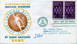 Amateur Radio First Day Cover --- Hams