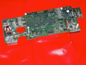 Close up of the 2nd DSP board on top of the Main DSP board