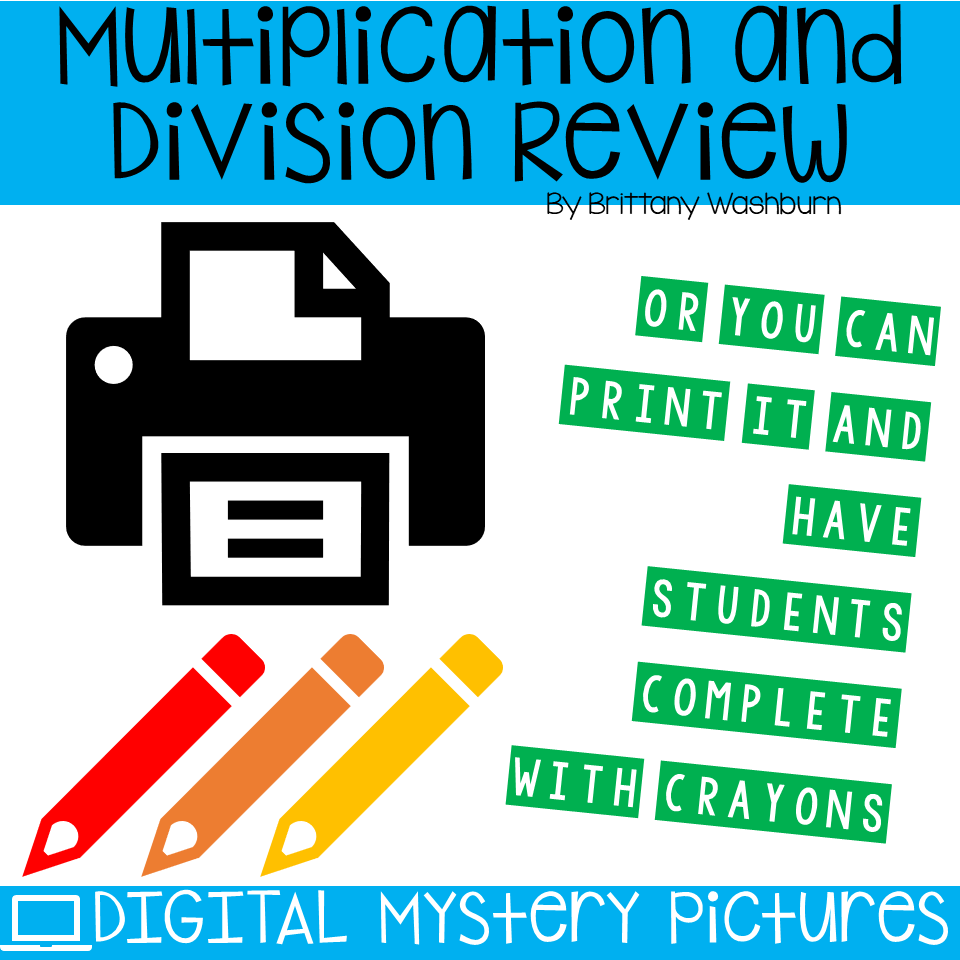 March Themed Multiplication and Division Practice DIGITAL Mystery ...