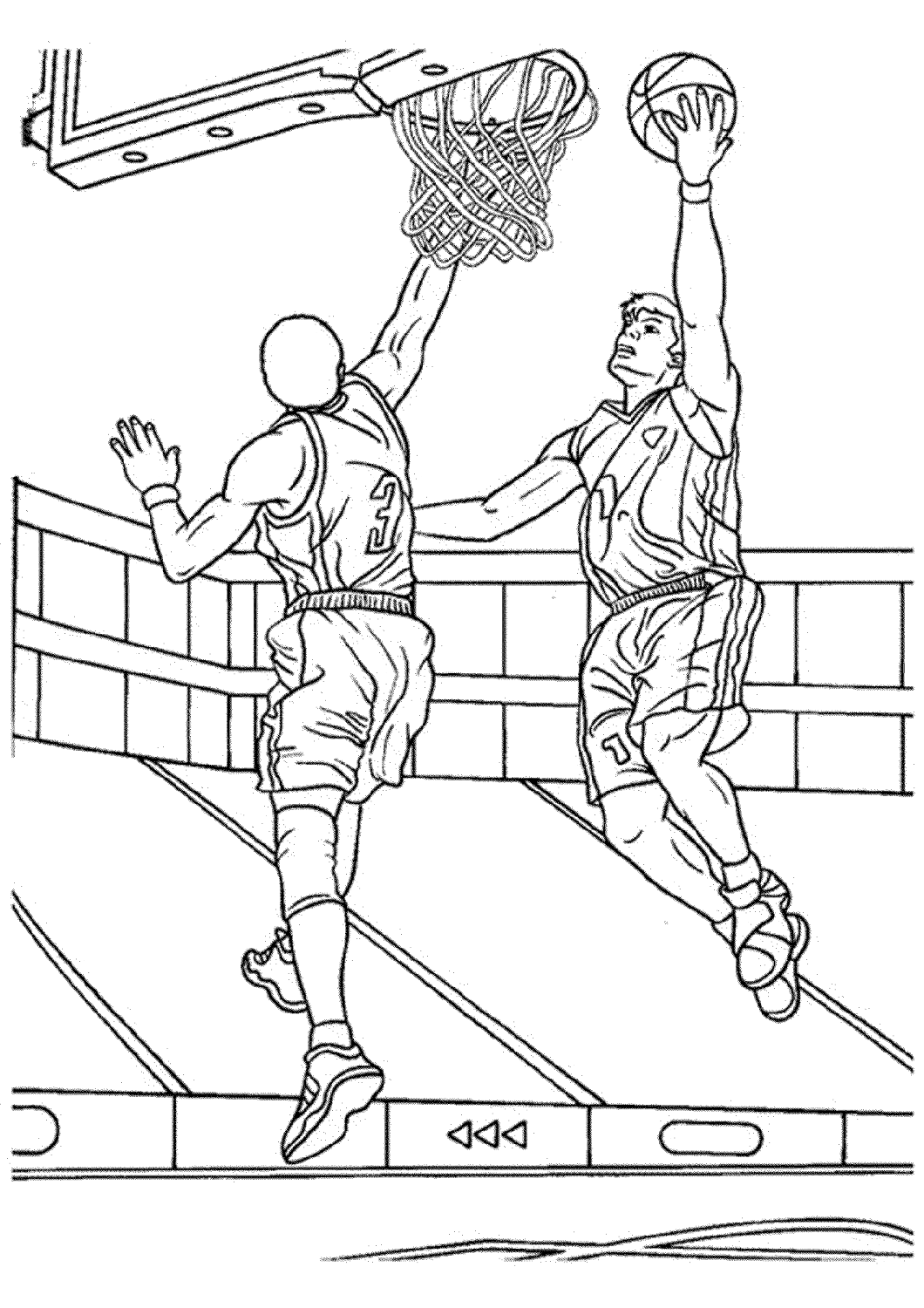 Free Basketball Color Pages