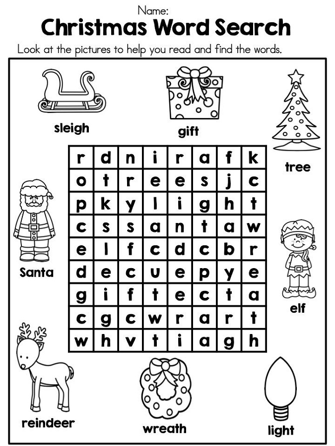Sheet Vocabulary Christmas