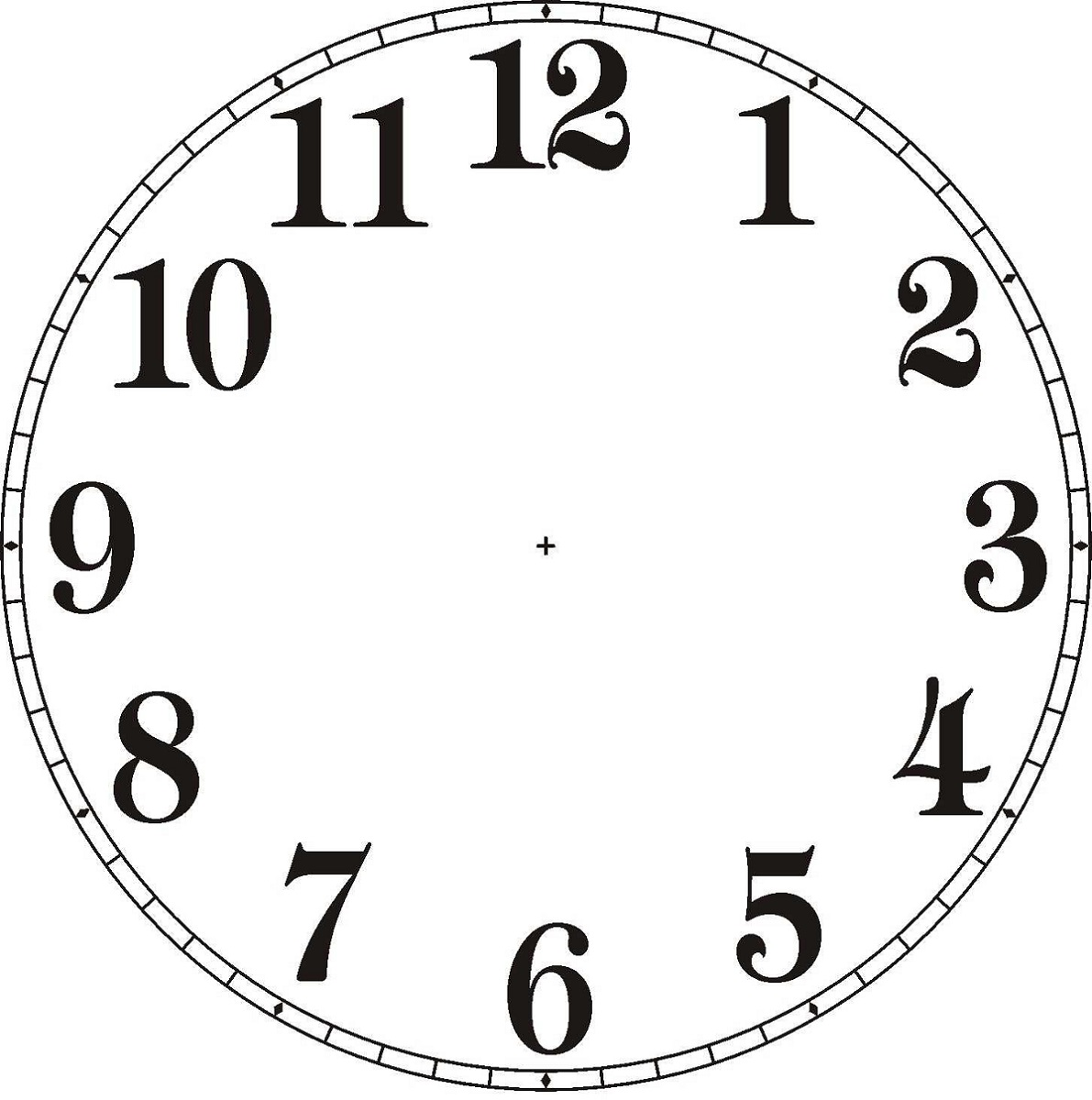 Printable Blank Clock Template