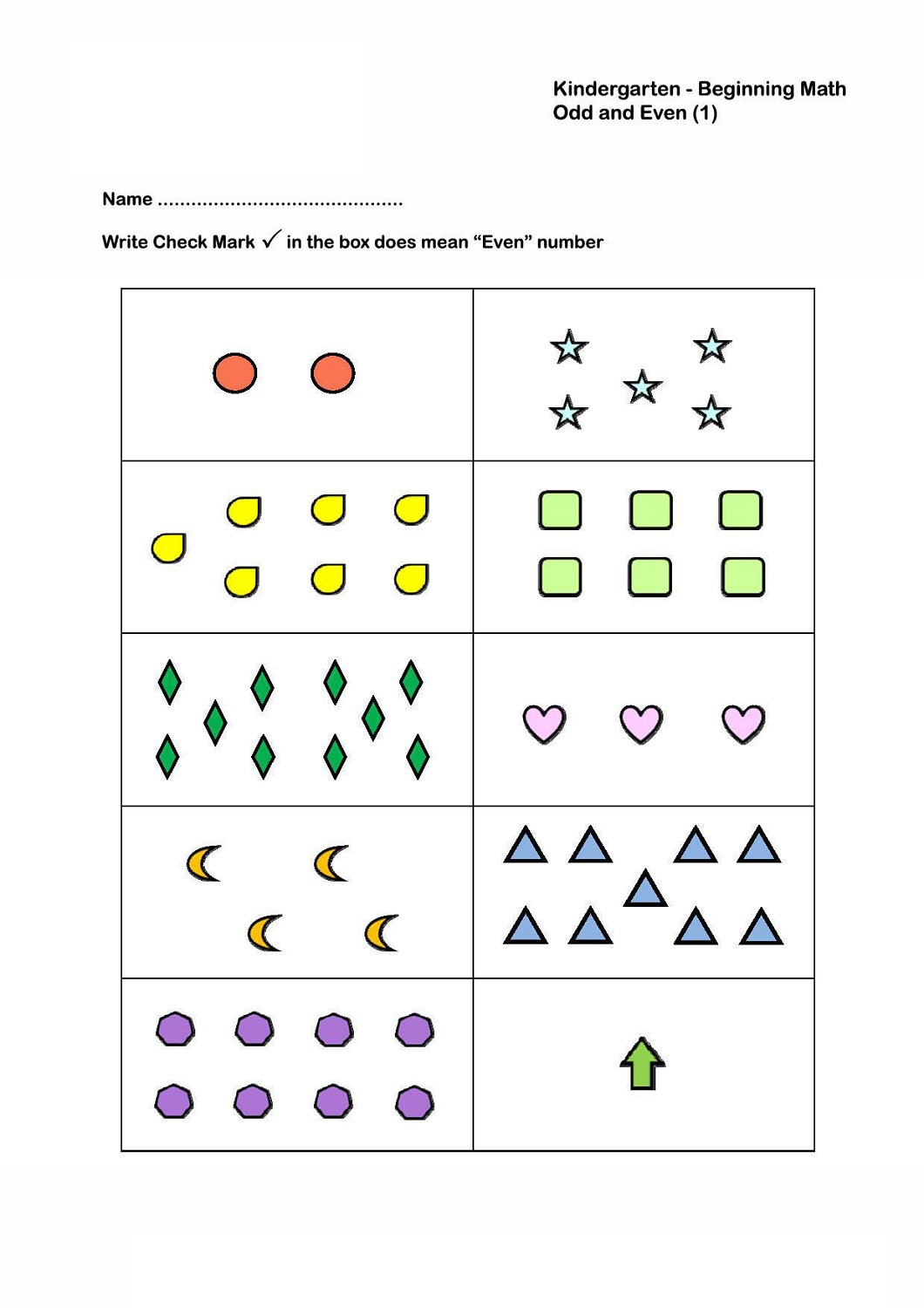 Odd And Even Numbers Worksheets 1st Grade