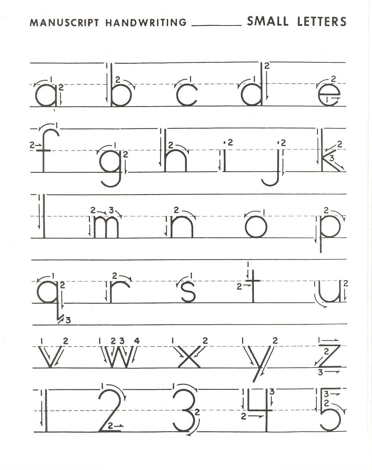 Traceable Alphabet Letters