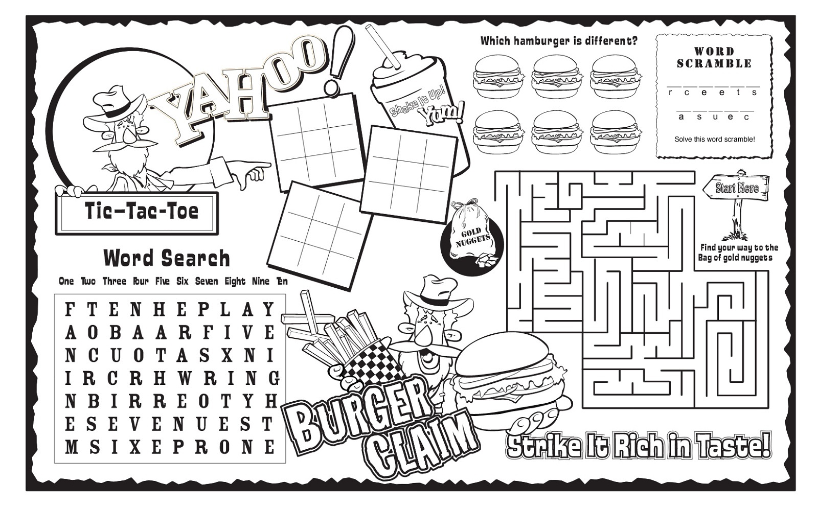 Printable Activity Sheets For Kids