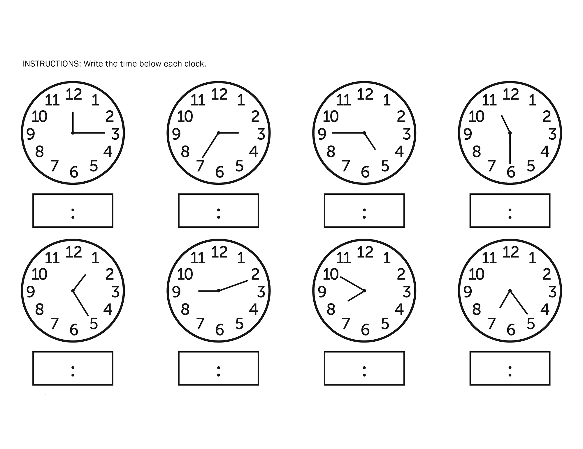 Elapsed Time Worksheet Printable