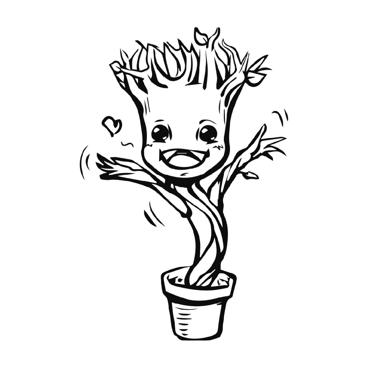 Baby Groot Coloring Page