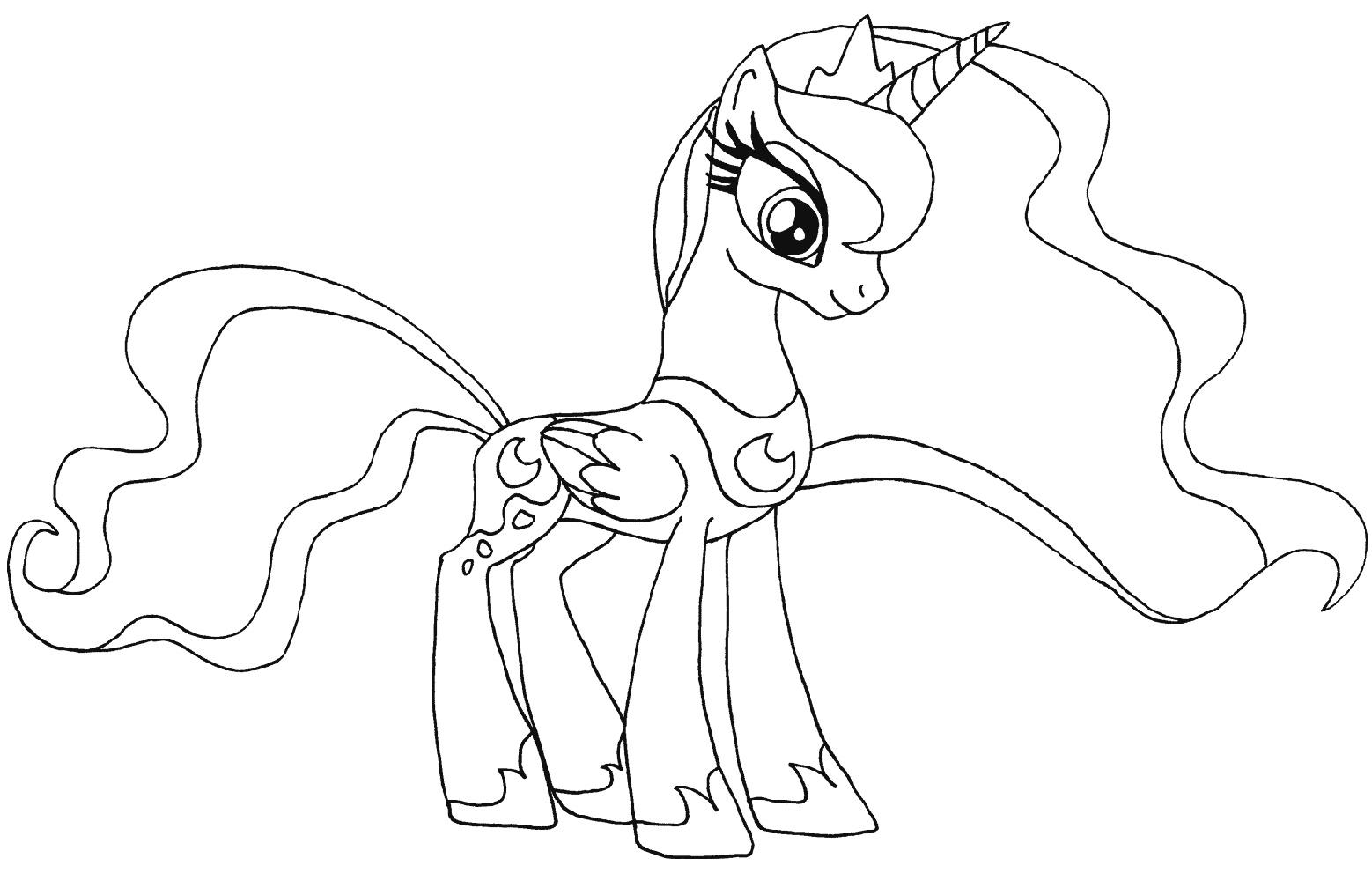 My Little Pony Coloring Pages Princess Luna