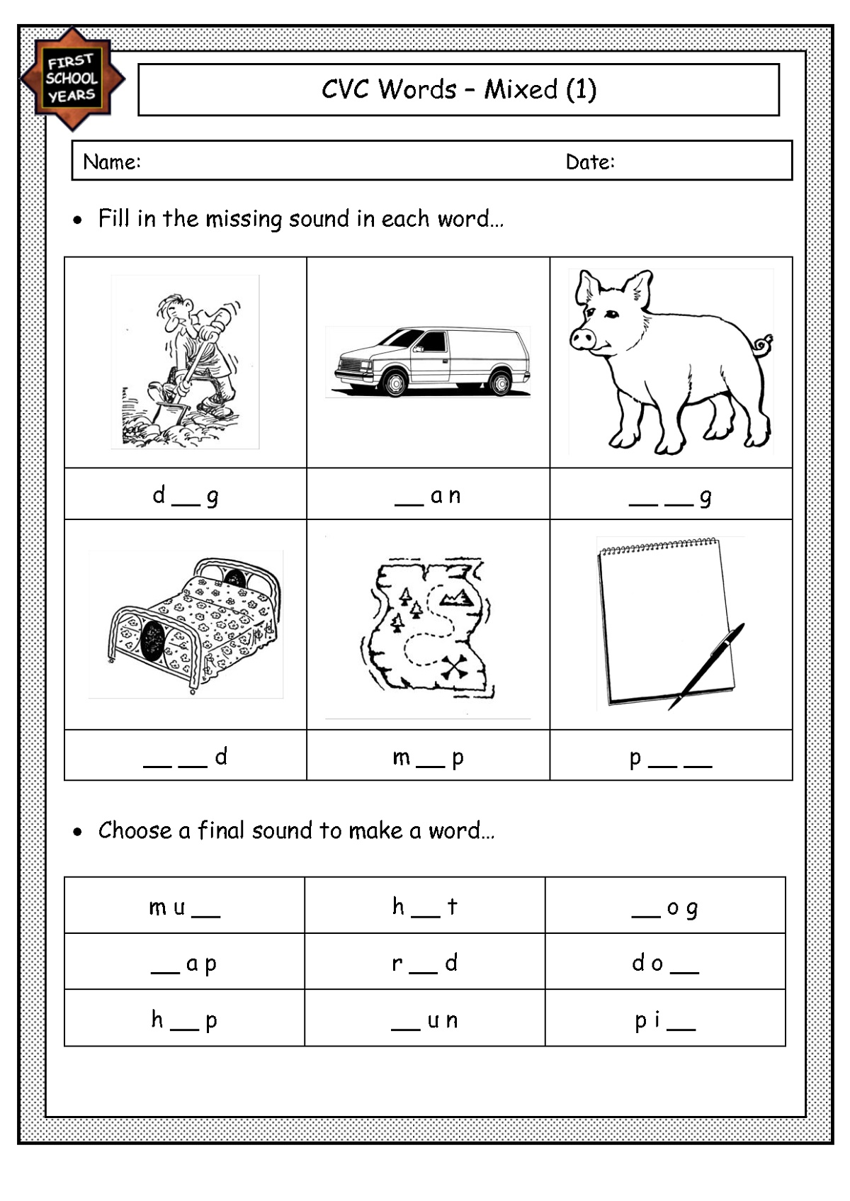 First Grade Worksheets