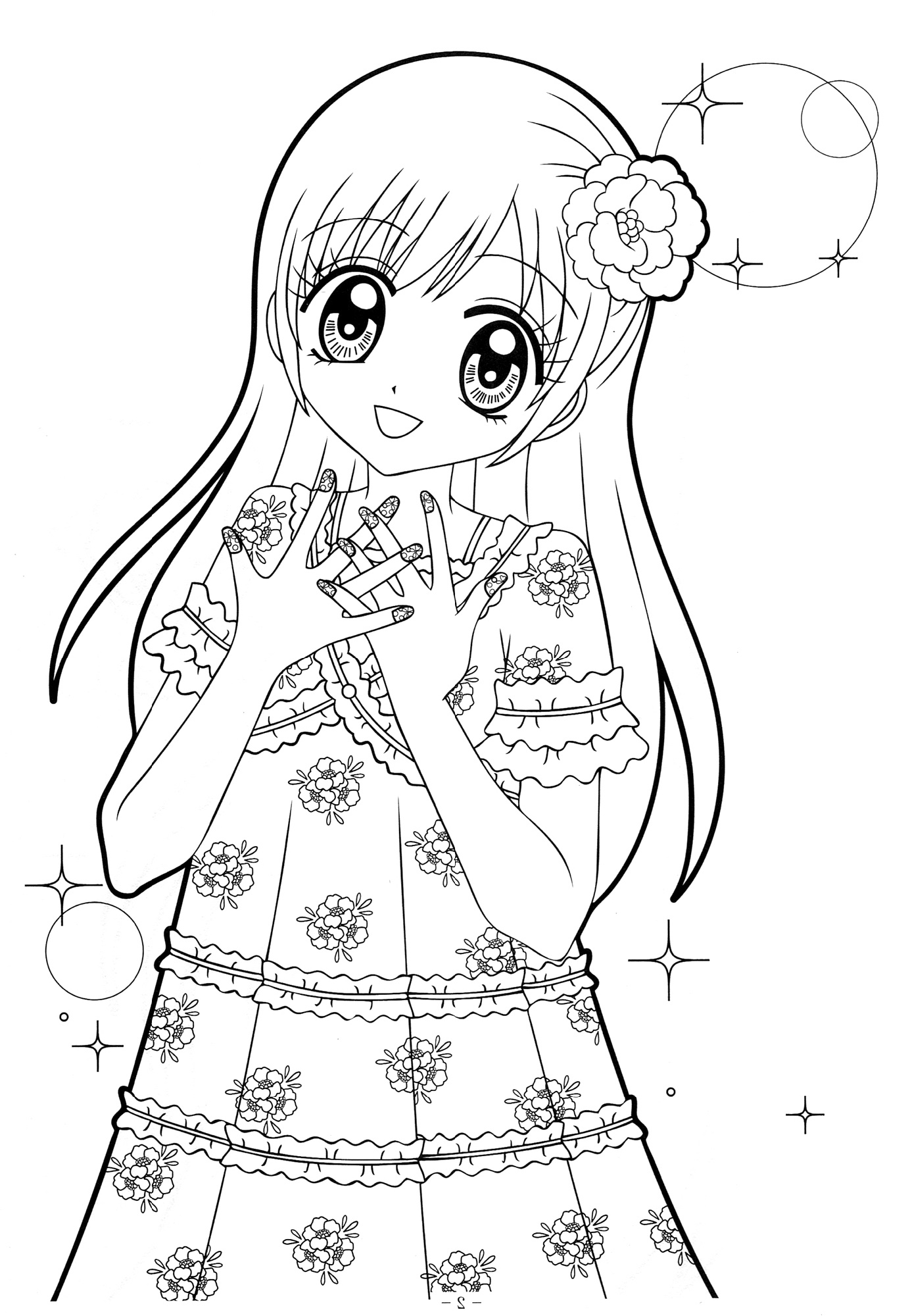 Anime Girl Coloring Pages Free