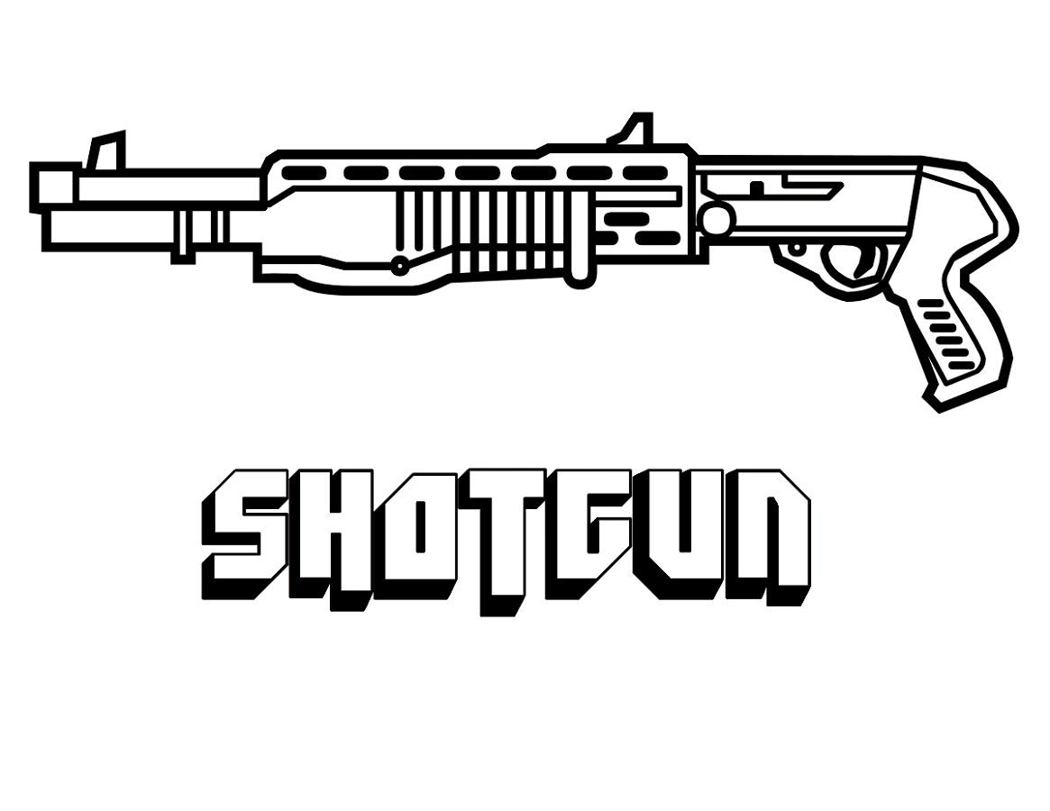 Gun Coloring Pages Shotgun
