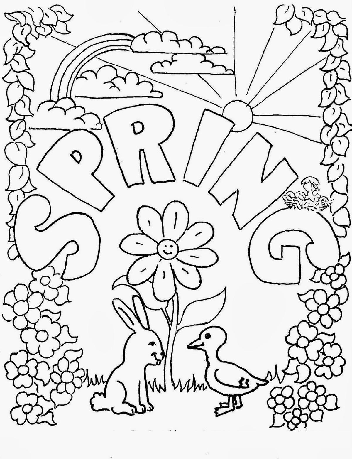 Spring Coloring Sheets