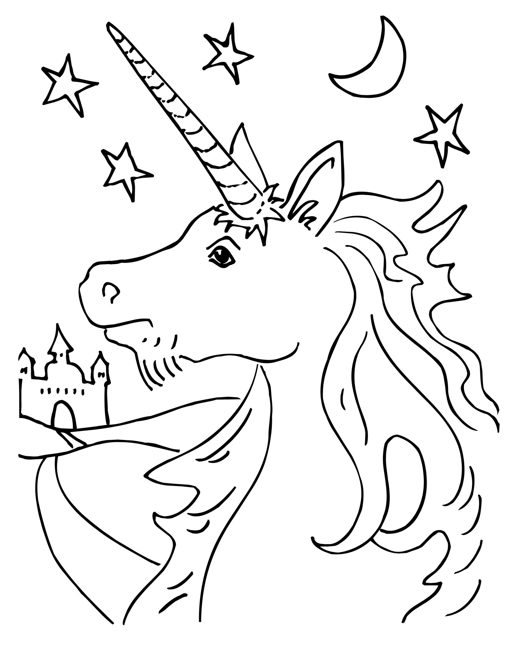 Unicorn Coloring Worksheets