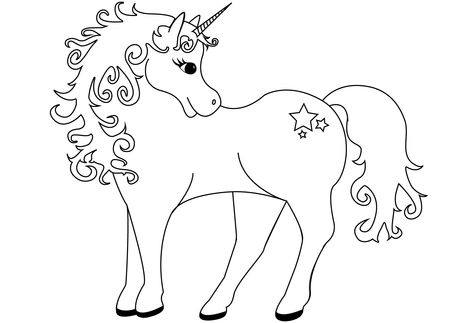Coloring Pages For Girls Unicorns
