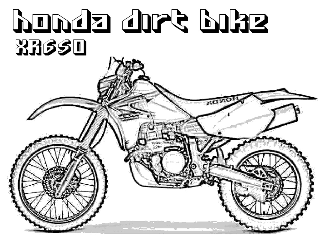 Dirt Bike Coloring Pages Free K5 Worksheets