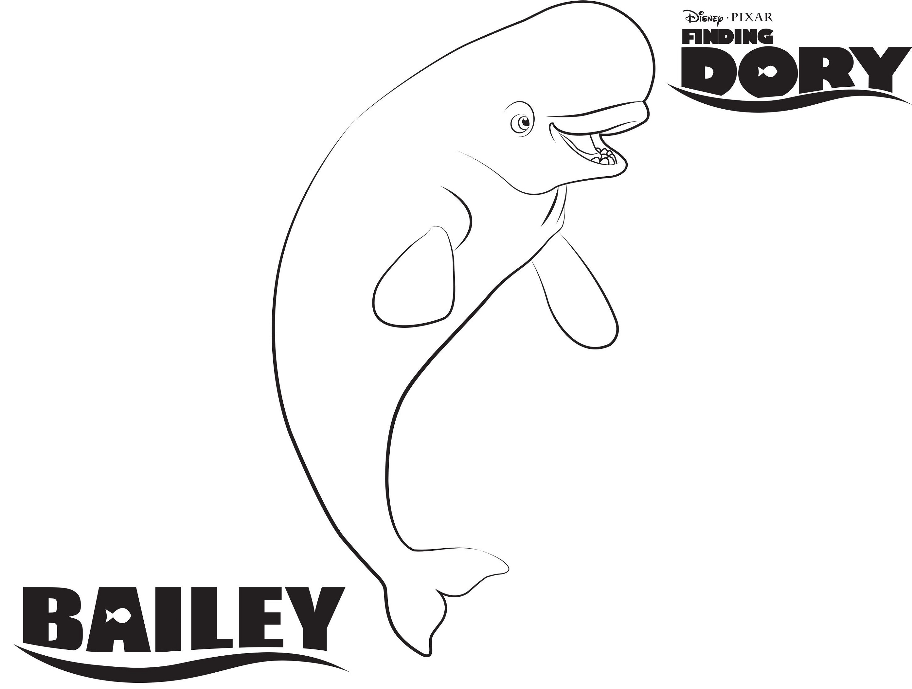 Finding Dory Coloring Pages Bailey K5 Worksheets