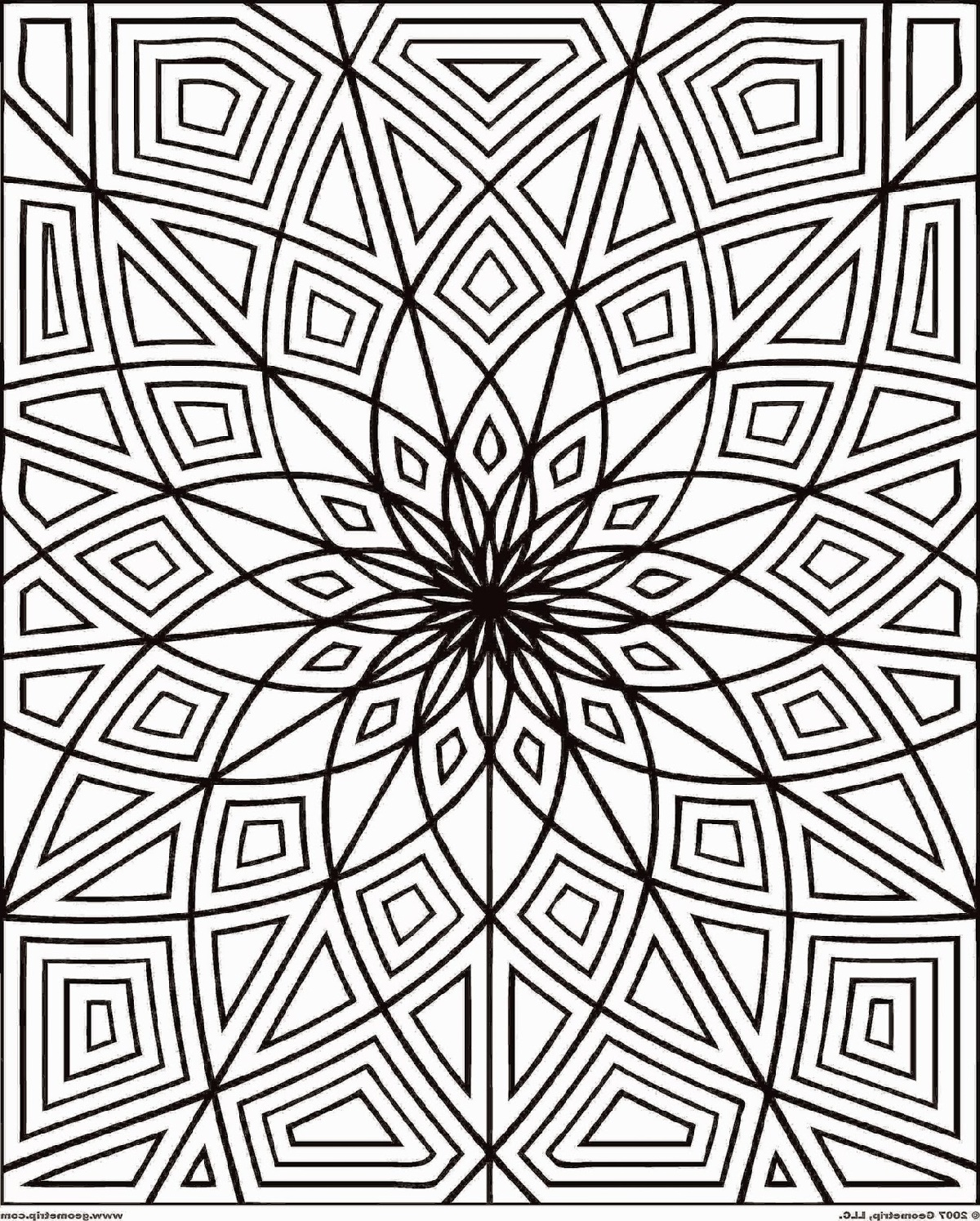 Coloring For Adults Printable Worksheet