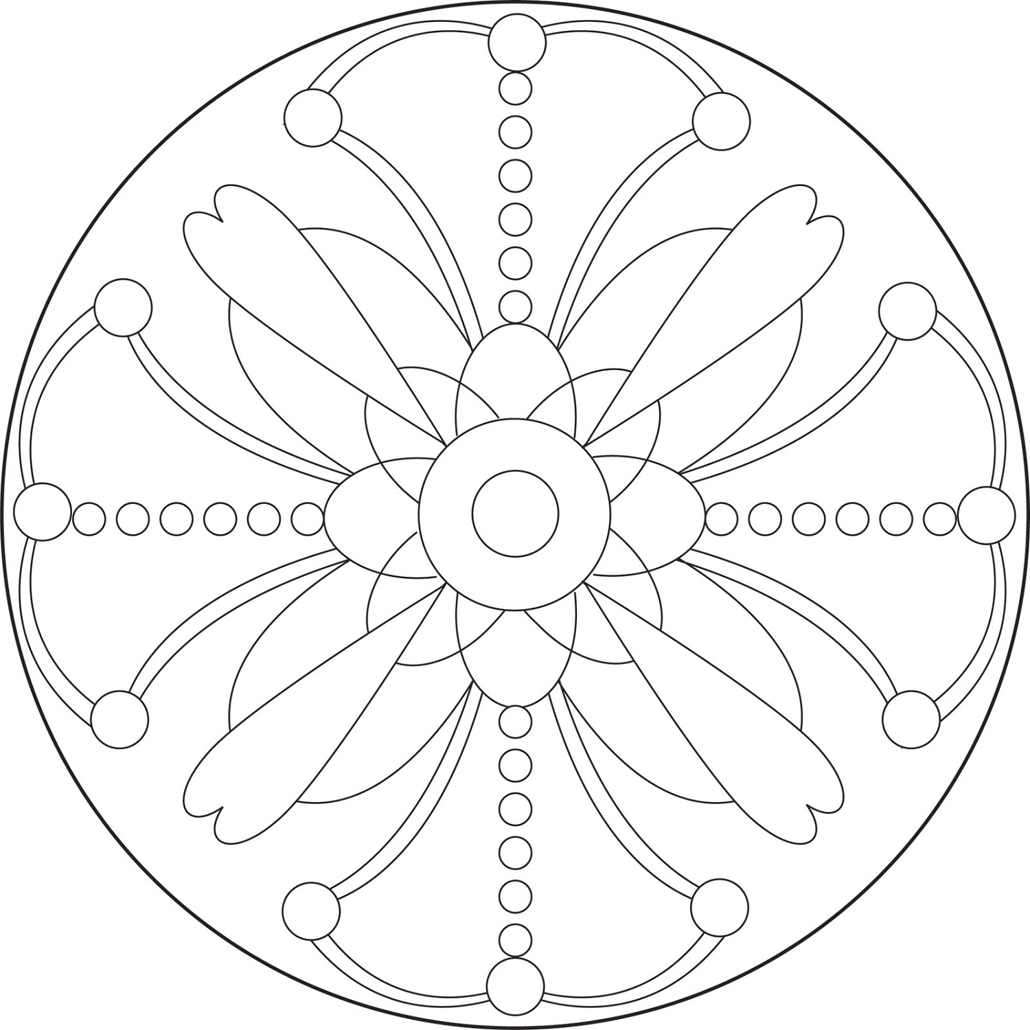 Mandala Coloring Book Simple