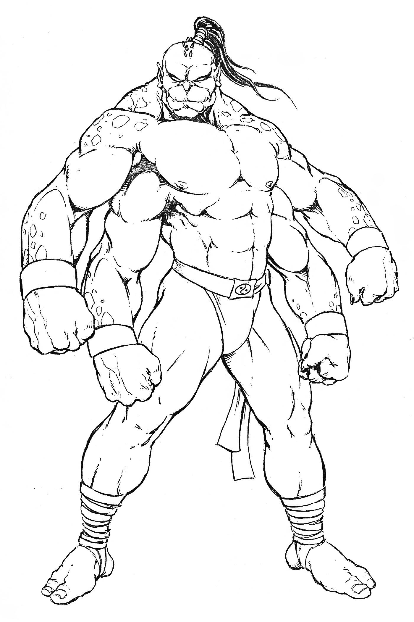 Mortal Kombat Coloring Pages Goro