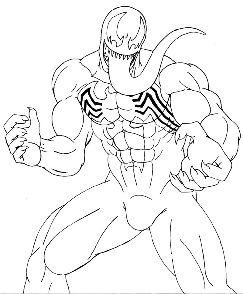 picture about Venom Coloring Pages Printable referred to as Venom Outstanding Very simple Coloring Webpages Printable - Upon Log Wall