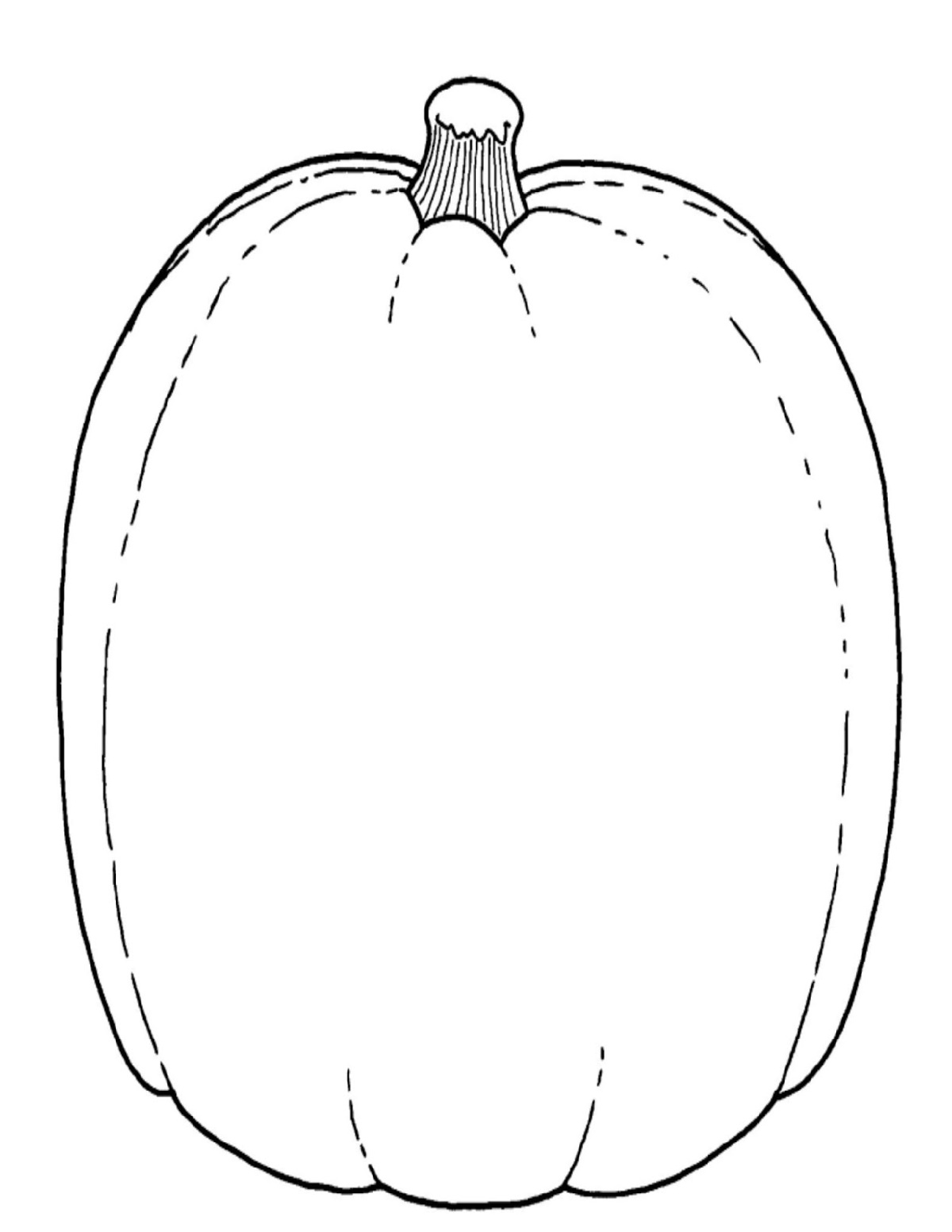 Blank Pumpkin Coloring Pages For Decoration