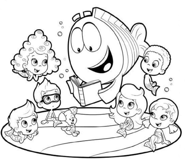bubble guppies coloring page # 74