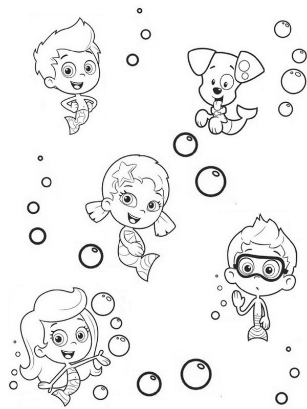 bubble guppies coloring page # 45