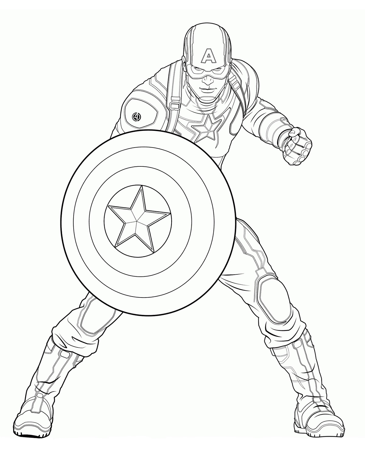 Captain America Shield Coloring Page For The Fans
