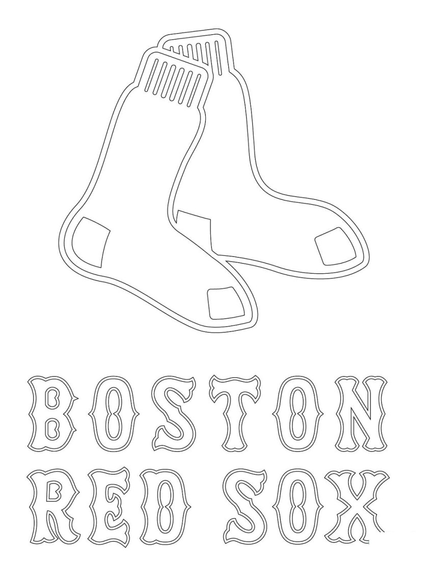 red sox coloring pages printable  k5 worksheets