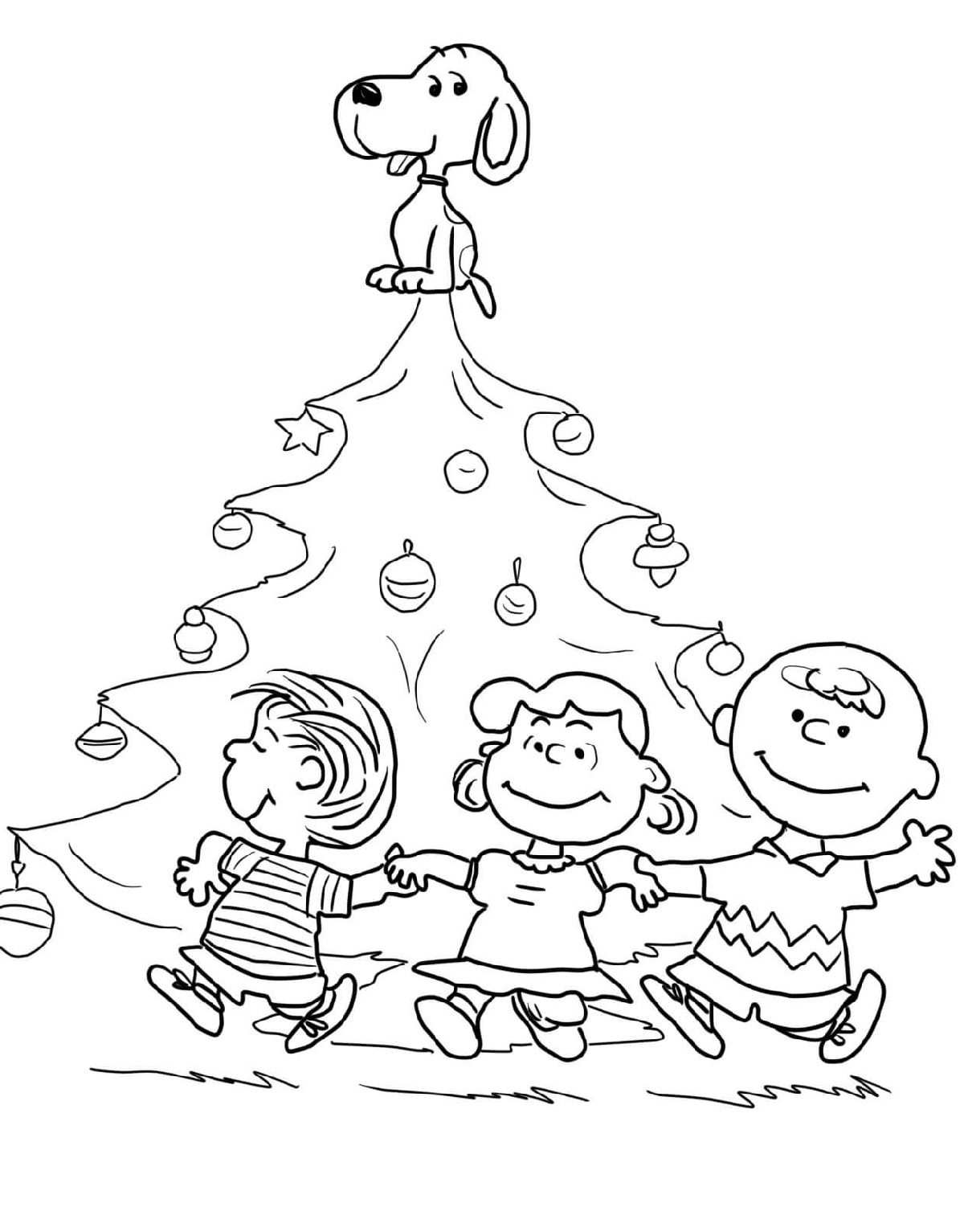 Snoopy Christmas Coloring Pages For Cartoon Lovers