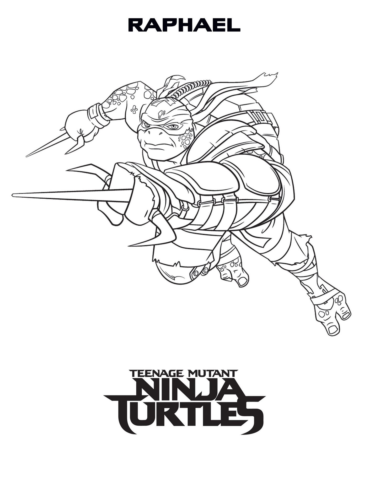 Teenage Mutant Ninja Turtles Coloring Pages To Print